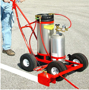 parking striping machine